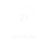 operations in 21 countries