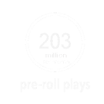 203 million pre roll plays
